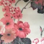 Креп-стрейч  цветы на белом480 руб за 1 м