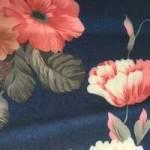 Креп-стрейч цветы на синем480 руб за 1 м