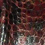 иск.кожа крокодил бордо760 руб за 1 м