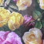 иск.кожа принт-розы1100 руб за 1 м