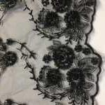 сетка-вышивка черная арт 202.999