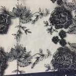 сетка-вышивка темно синяя арт 202.2